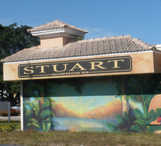 Picture of building in downtown Stuart Florida