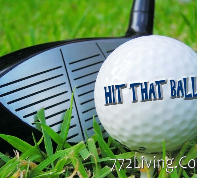 Image of golf ball and club